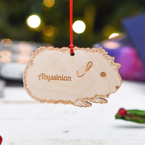 Personalised Abyssinian Guinea Pig Decoration
