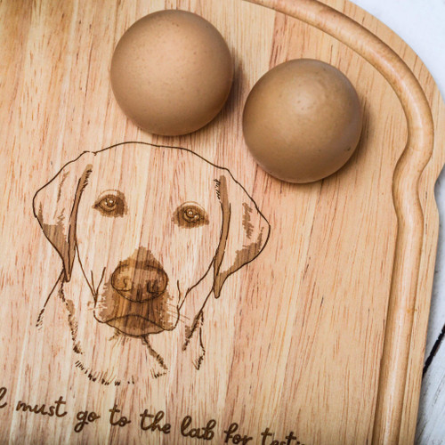 Personalised Breakfast Egg Board - Labrador