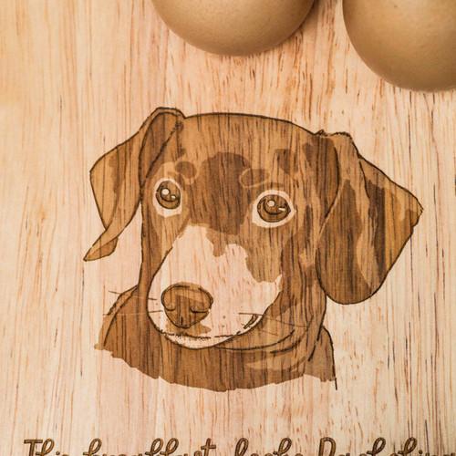 Personalised Breakfast Egg Board - Dachshund