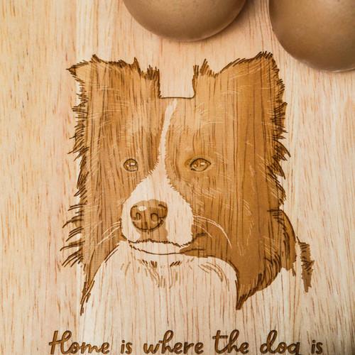 Personalised Breakfast Egg Board - Border Collie
