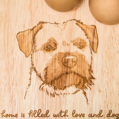 Personalised Breakfast Egg Board - Border Terrier