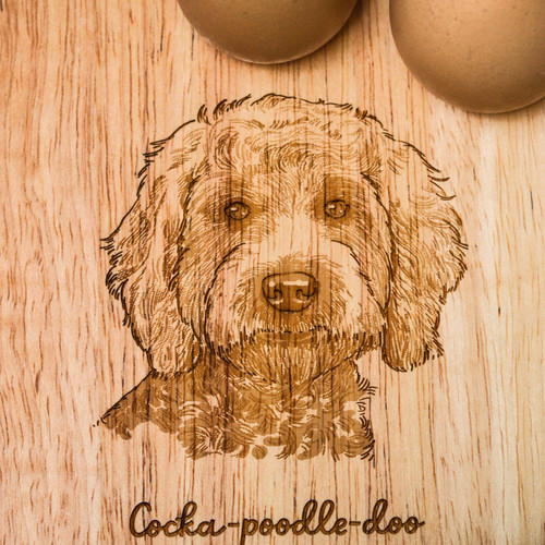 Personalised Breakfast Egg Board - Cockapoo