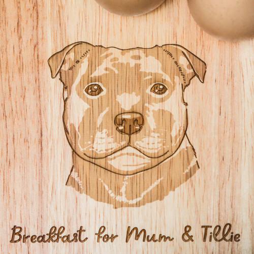 Personalised Breakfast Egg Board - Staffordshire