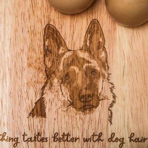 Personalised Breakfast Egg Board - German Shepherd