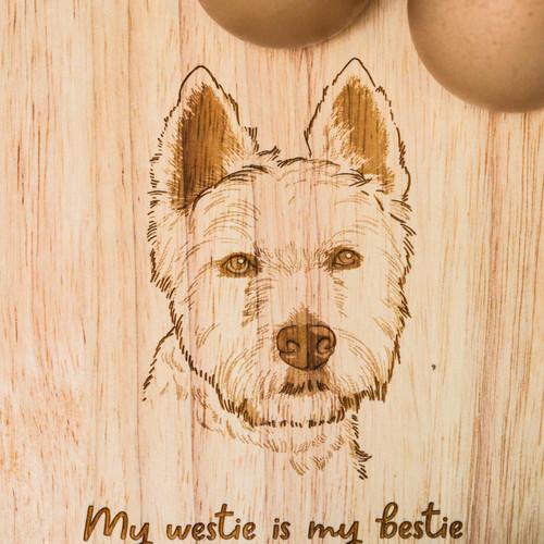 Personalised Breakfast Egg Board - Westie