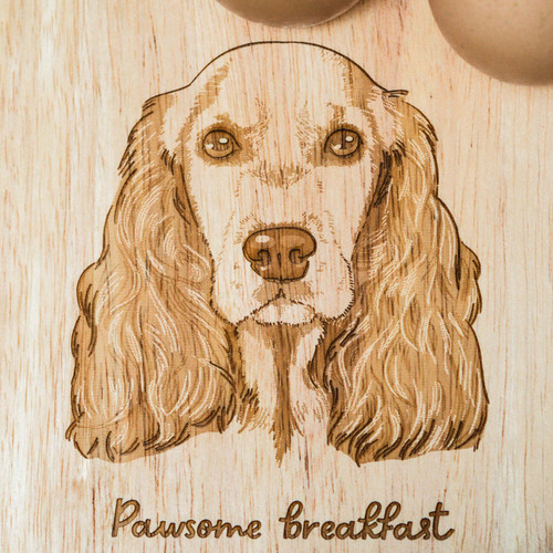 Personalised Breakfast Egg Board - Cocker Spaniel
