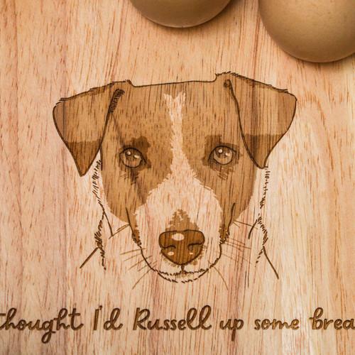 Personalised Breakfast Egg Board - Jack Russell
