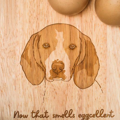 Personalised Breakfast Egg Board - Beagle