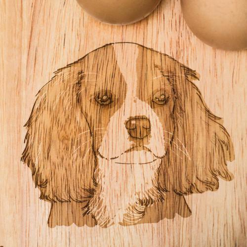 Personalised Breakfast Egg Board - Cavalier King Charles