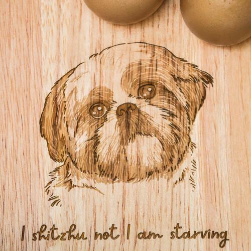 Personalised Breakfast Egg Board - Shih Tzu