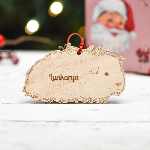 Personalised Lunkarya Guinea Pig Decoration