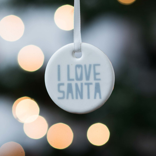 Ceramic 'I Love Santa' Hanging Decoration - The Crafty Giraffe