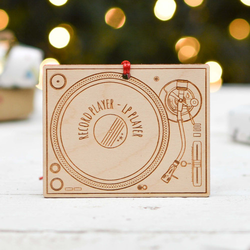 Personalised Record Player Decoration