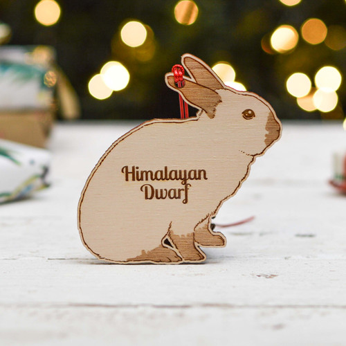 Personalised Himalayan Dwarf Rabbit Decoration