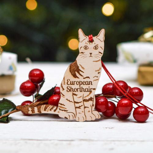 Personalised European Shorthair Cat Decoration