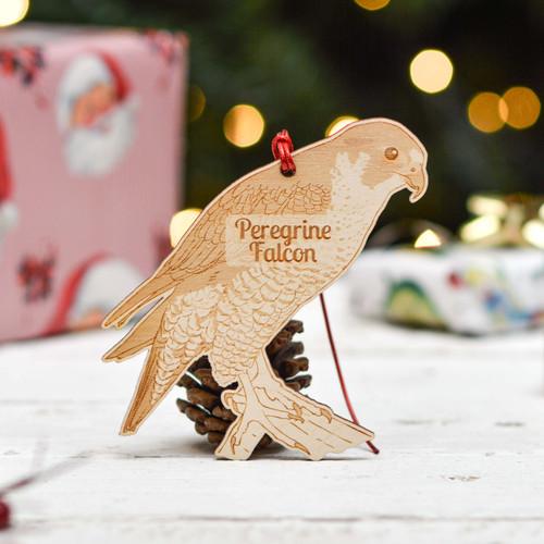 Personalised Peregrine Falcon Decoration
