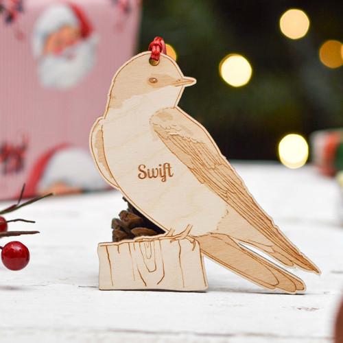 Personalised Swift Bird Decoration