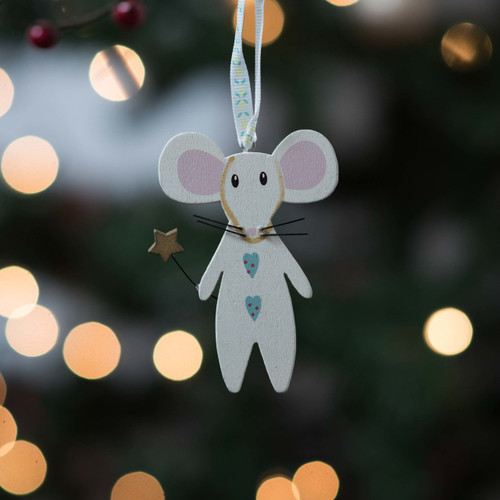 Wooden mouse with wand - The Crafty Giraffe