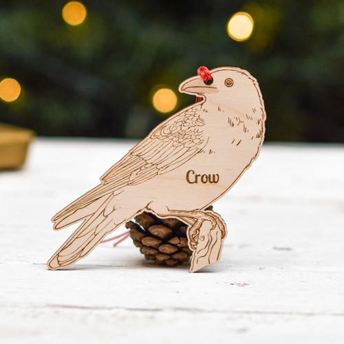 Personalised Crow Bird Decoration