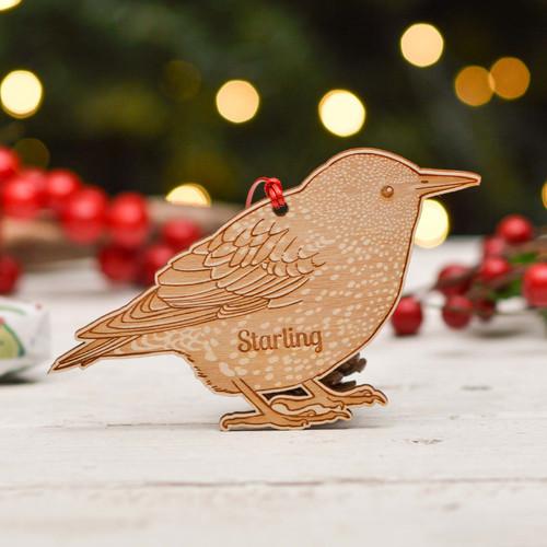 Personalised Starling Bird Decoration