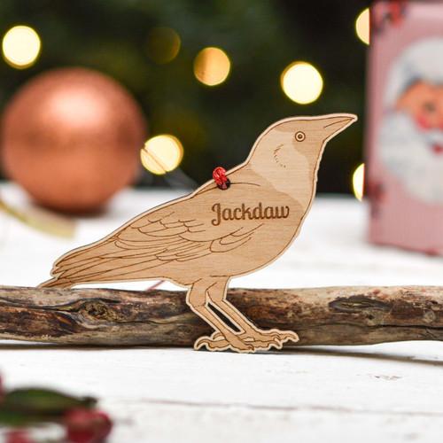 Personalised Jackdaw Bird Decoration