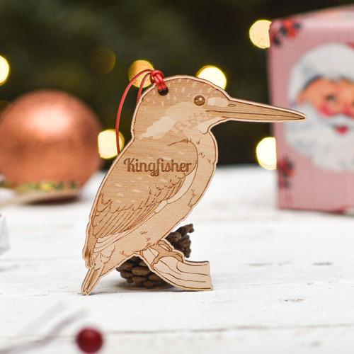 Personalised Kingfisher Bird Decoration
