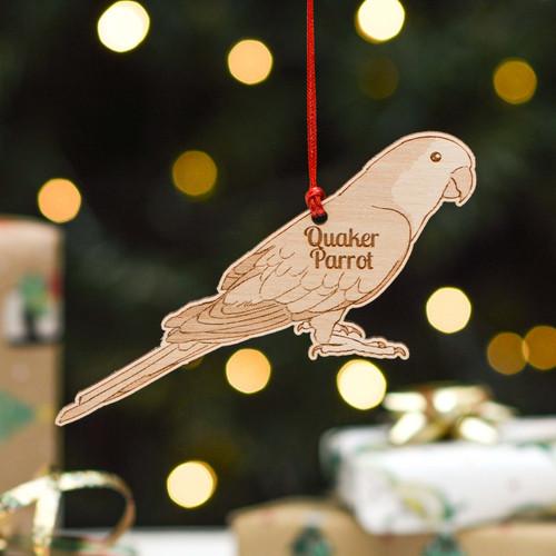 Personalised Quaker Parrot Bird Decoration