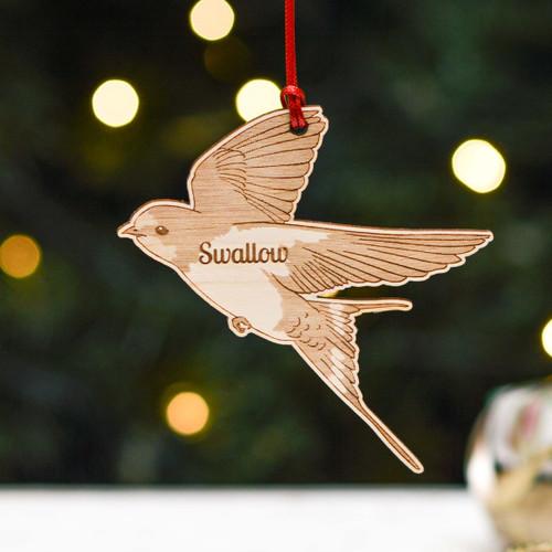 Personalised Swallow Bird Decoration