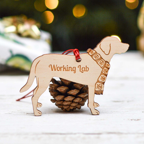 Personalised Working Lab Dog Decoration