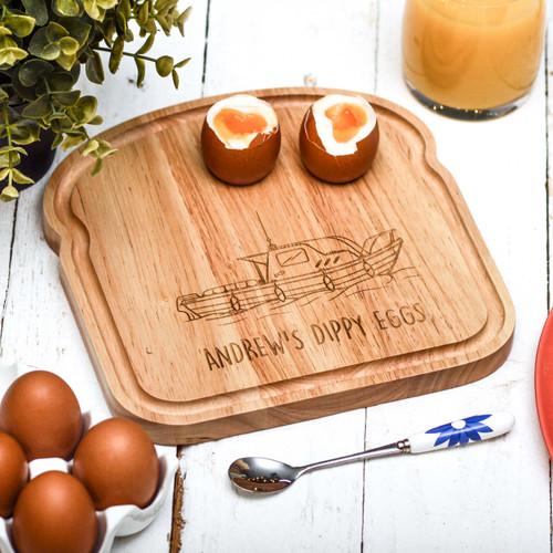 Personalised Breakfast Egg Board - Fishing Boat