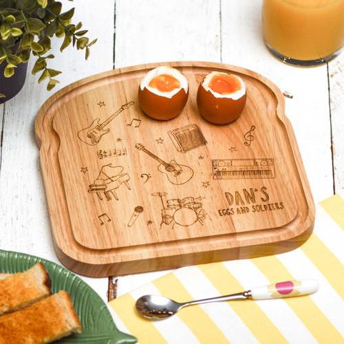 Personalised Breakfast Egg Board - Music