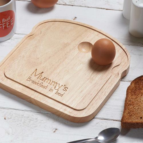 Personalised Breakfast Egg Board - Breakfast in bed