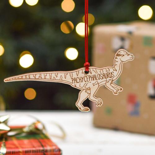 Personalised Pachycephalosaurus Dinosaur Decoration