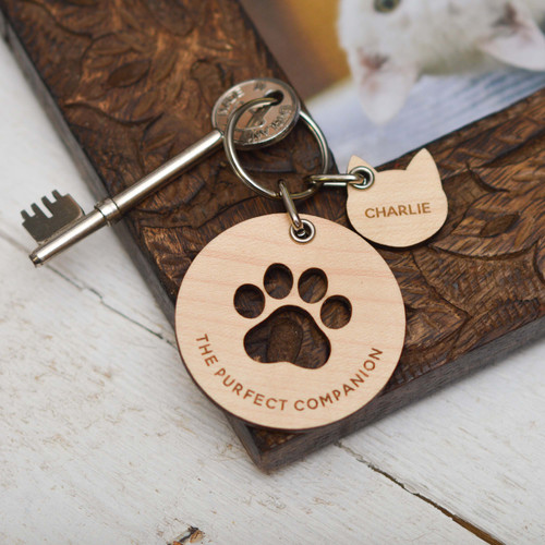 Personalised The Purfect Companion - Cat Keyring