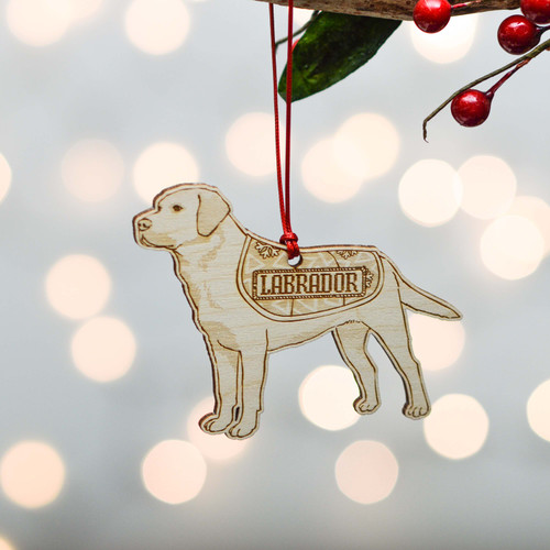 Personalised Labrador Dog Decoration - Detailed