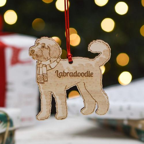 Personalised Labradoodle Dog Decoration - Detailed