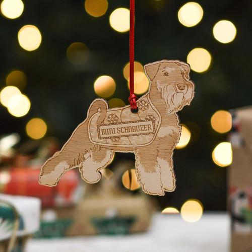 Personalised Miniature Schnauzer Dog Decoration - Detailed