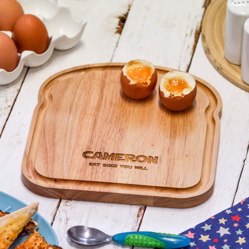 Personalised Breakfast Egg Board - Eat eggs you will - The Crafty Giraffe