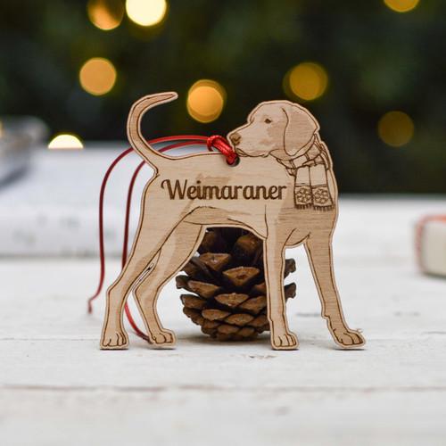 Personalised Weimaraner Dog Decoration - Detailed