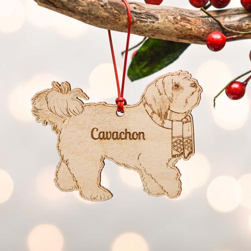 Personalised Cavachon Dog Decoration - Detailed