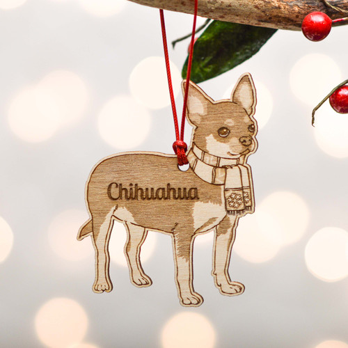 Personalised Chihuahua Dog Decoration - Detailed