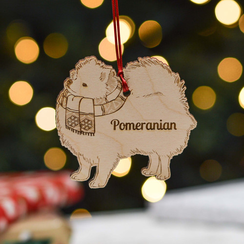 Personalised Pomeranian Dog Decoration - Detailed