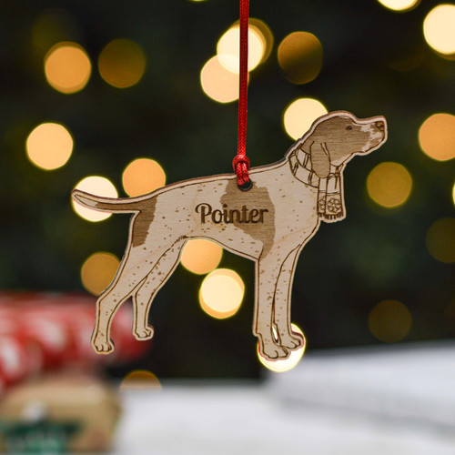 Personalised Pointer Dog Decoration - Detailed