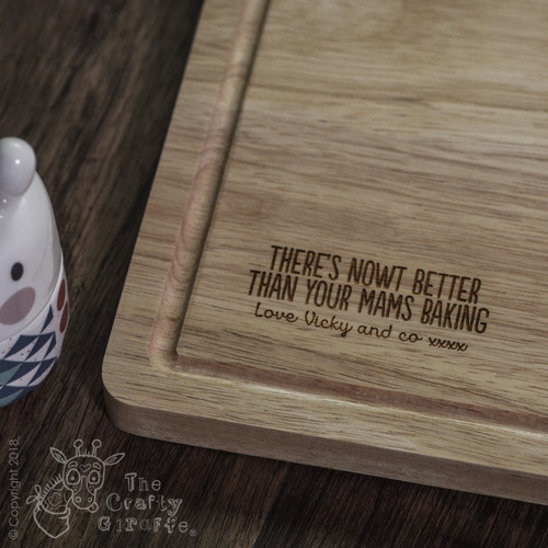 "Buy Personalised ""There's nowt better than.."" Board From The Crafty Giraffe, the home of unique and affordable gifts for loved ones..."