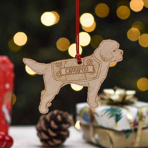 Personalised Cavapoo Dog Decoration - Detailed