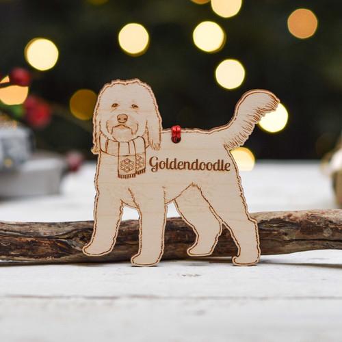Personalised Goldendoodle Dog Decoration - Detailed