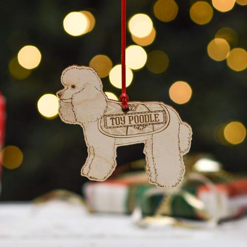 Personalised Toy Poodle Dog Decoration - Detailed