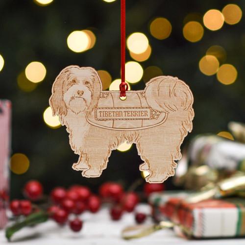 Personalised Tibetan Terrier Dog Decoration - Detailed