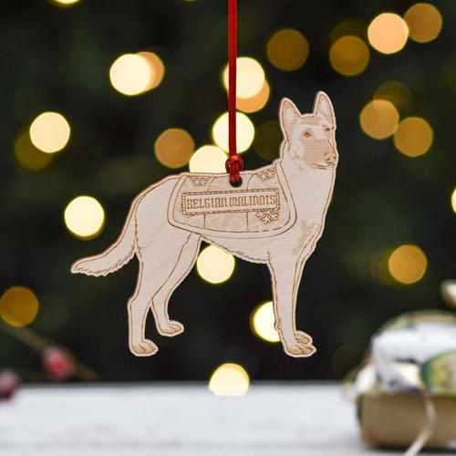 Personalised Belgian Malinois Dog Decoration - Detailed