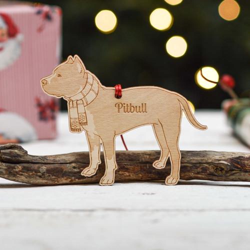 Personalised Pitbull Dog Decoration - Detailed